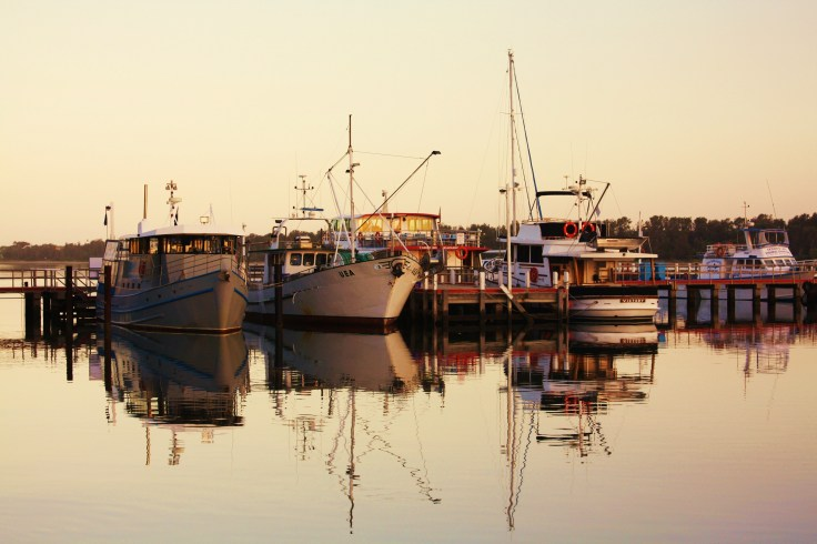Fishing Boats Reflection
